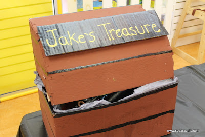 picture of cardboard treasure chest