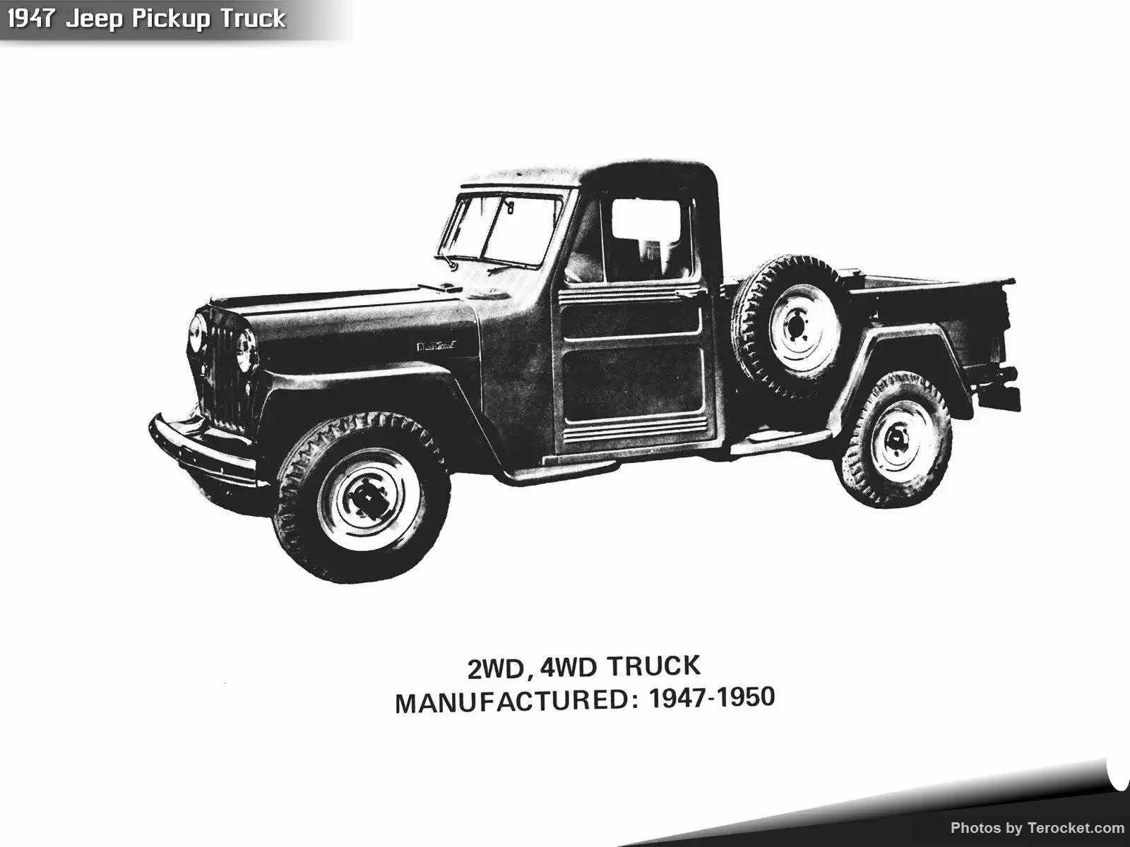 Hình ảnh xe ô tô Jeep Pickup Truck 1947 & nội ngoại thất