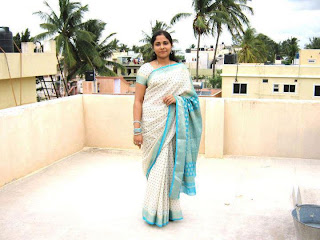 Traditional Tamil girl with here new saree while Diwali.