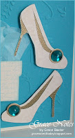 Fabulous at 50 birthday card shoes