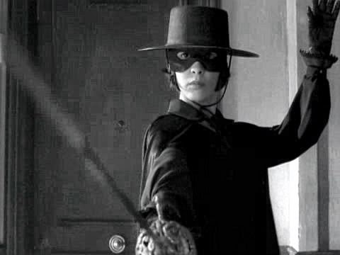 Amelie in Zorro costume