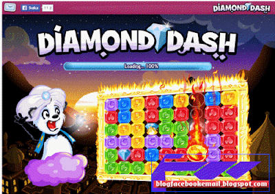 permainan facebook terbaik Diamond Dash