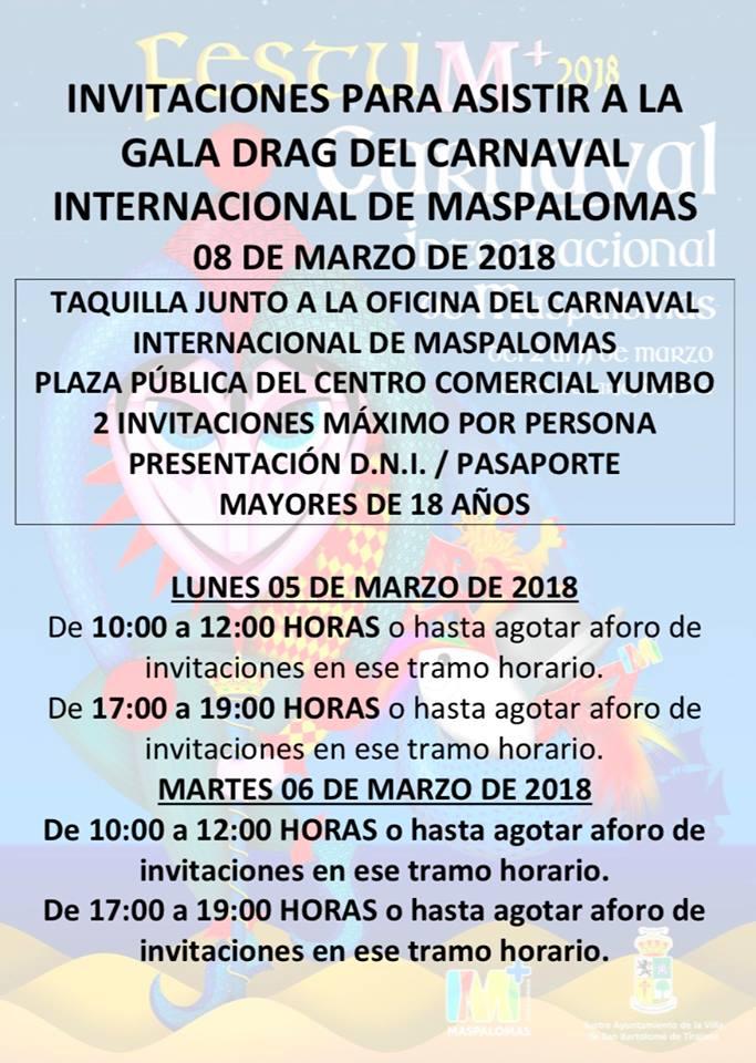 INVITACIONES A LA GALA DRAG