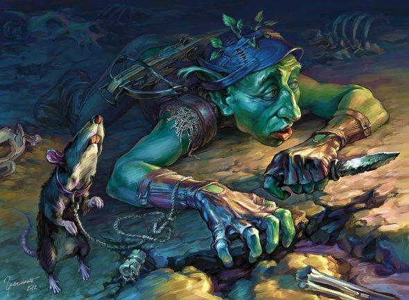 Igor Grechanyi deviantart ilustrações fantasia card games