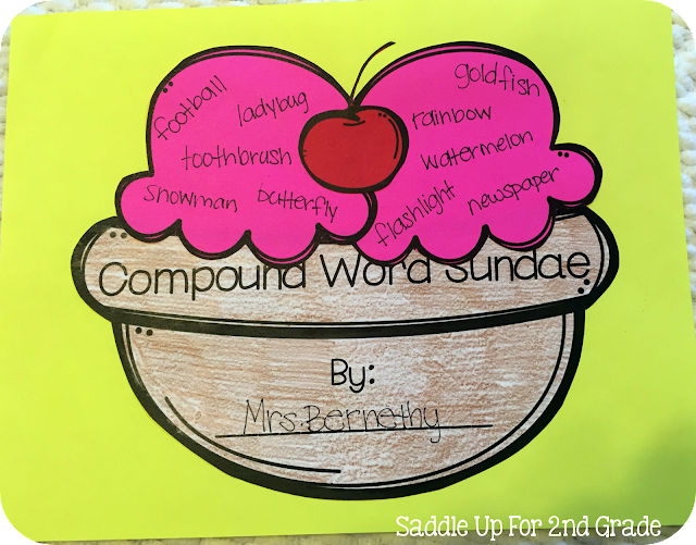 Compound Word Sundae by Saddle Up For 2nd Grade