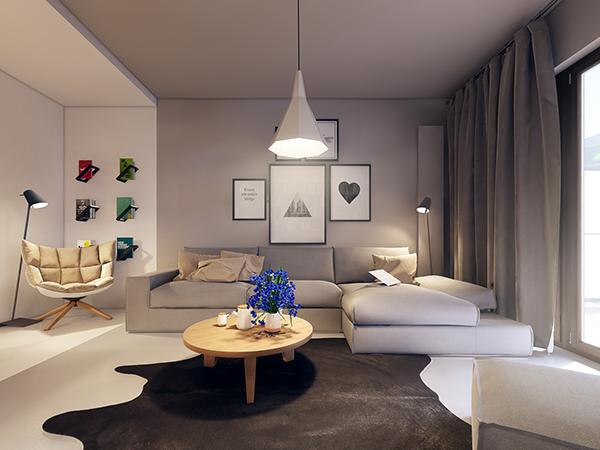 Simple and elegant apartment interior design ideas with warm colors