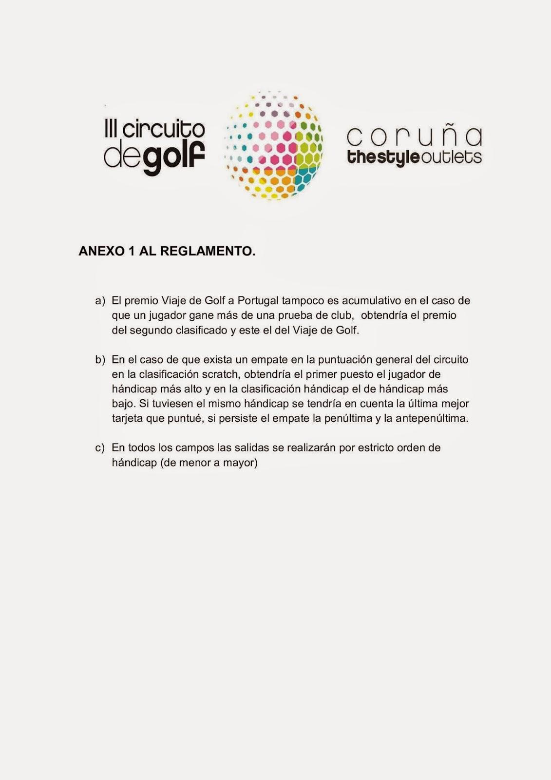 Circuito Mayor : De golf: iii circuito de golf coruÑa the style outlets