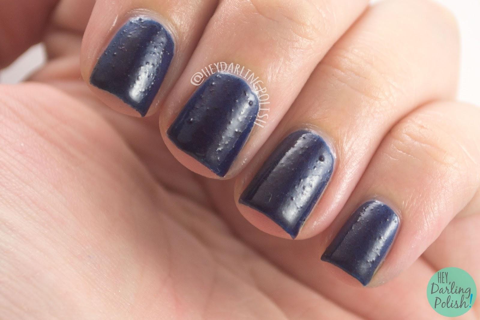 turbulent space, blue, navy, nails, nail polish, indie polish, yume lacquer, hey darling polish, sailor moon, swatches, review