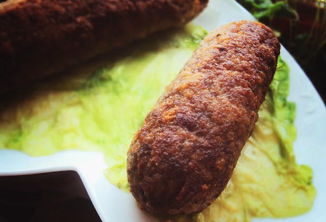 Mięso mielone faszerowane próką i kapustą pekińską