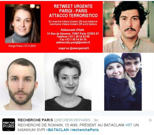 the Photos of Paris victims.