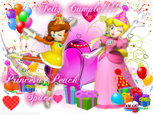 The Princess Peach Land♥♪☆: FELIZ CUMPLEAÑOS!!!PRINCESA PEACH ...