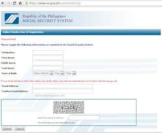 SSS Online Member User ID Registration