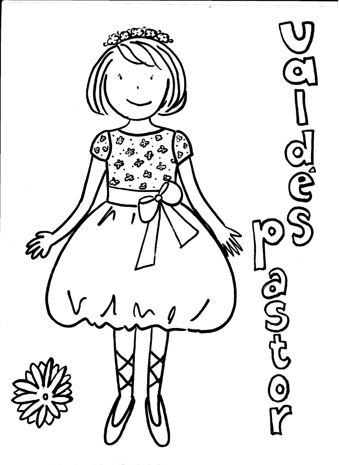Valdés & Pastor Diseño y Costura: Dibujos para colorear tu Primera ...