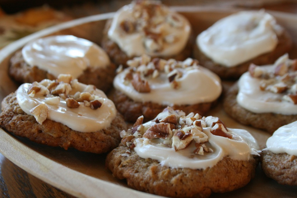 ... : Butterscotch Pumpkin Spice Cookies with Maple Cream Cheese Frosting