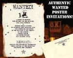 Wanted poster Invitations