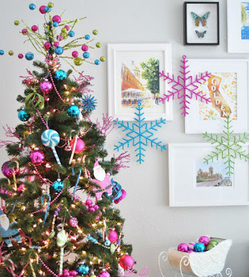 The trend for  Christmas 2012, the colors fuchsia, purple and blue