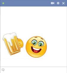 emoticon Facebook bersulang