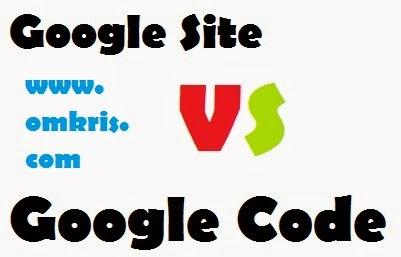 google site vs google code