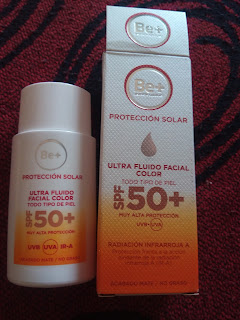Be+ solar de cara ultra fluido con color 50+