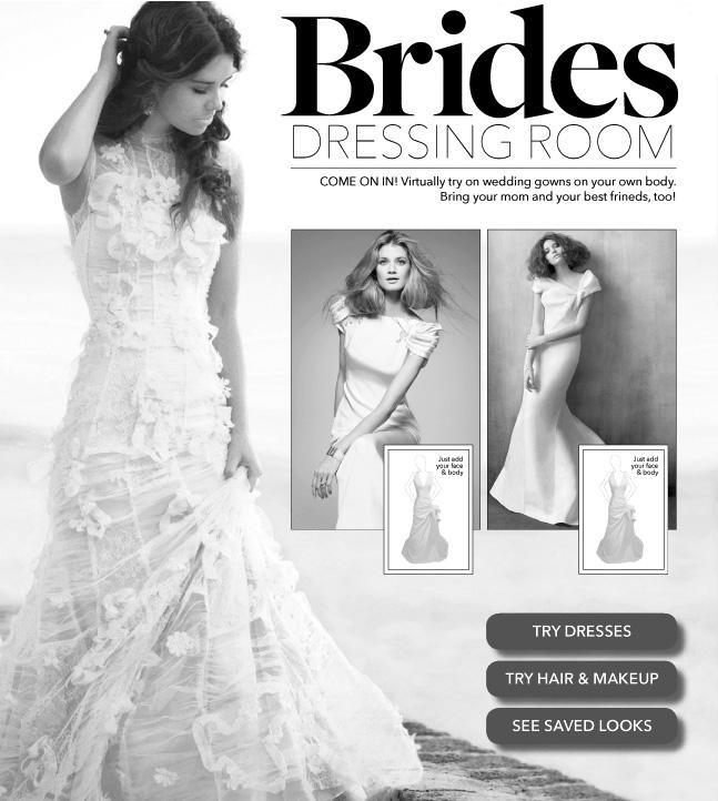 el blog de creame.: pruébate vestidos de novia online!