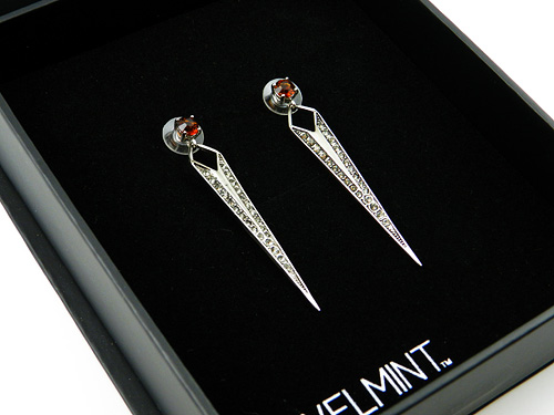 Jewelmint Burgundy Brilliance Earrings