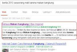 Hasil Google Search Kedua Google Tak Peduli Backlink dan Pagerank