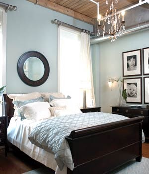 home interior design black and white and blue bedroom that is great