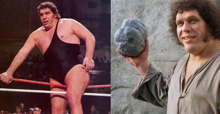 El ya fallecido y celbre Andre The Giant participo en producciones muy importantes del cine