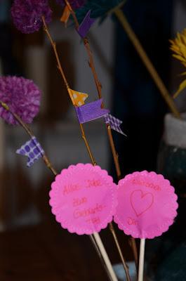 Geldgeschenke, eingenäht, als Blumenstrauss