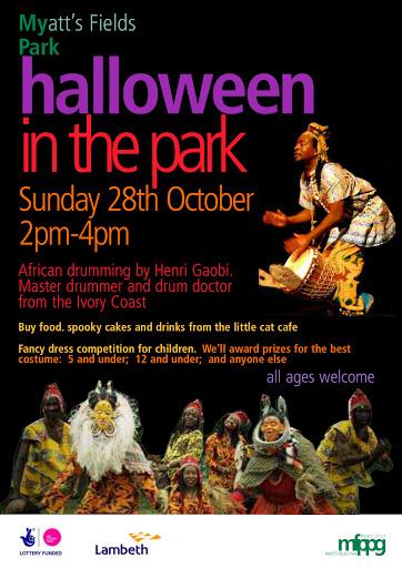 Halloween 2012 in Myatts Fields Park SE5 on vassallview.com