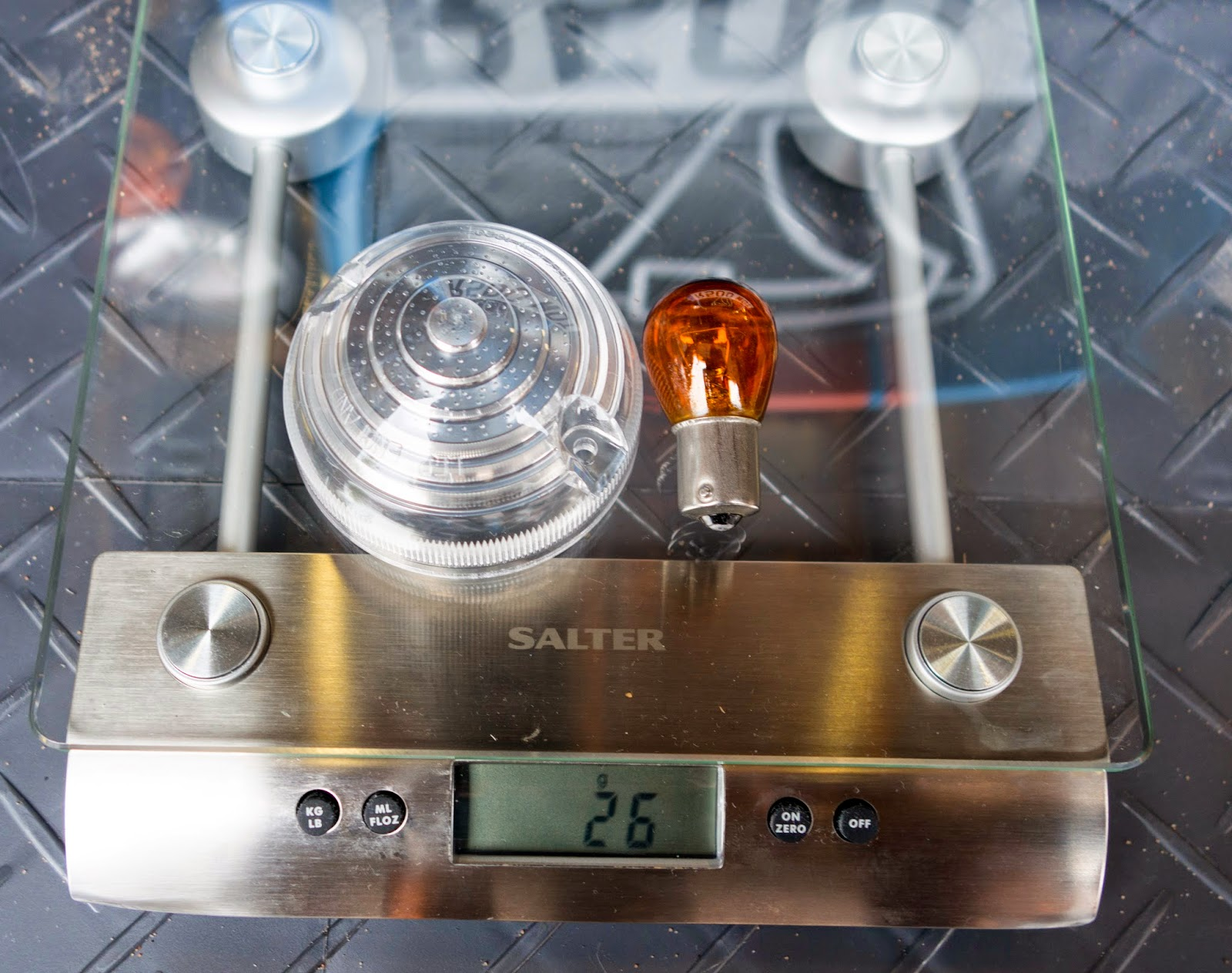 Caterham Clear Front Indicator Kit - Surprisingly lighter than the standard part at 26g.