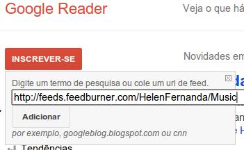 Adicionando ao Google Reader