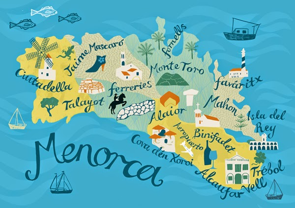 we gathered in spring Menorca Map