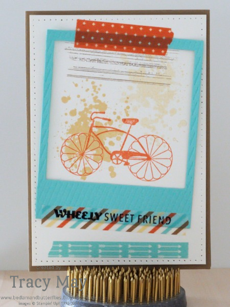 Stampin up Retro Fresh Washi tape Tracy May card making ideas
