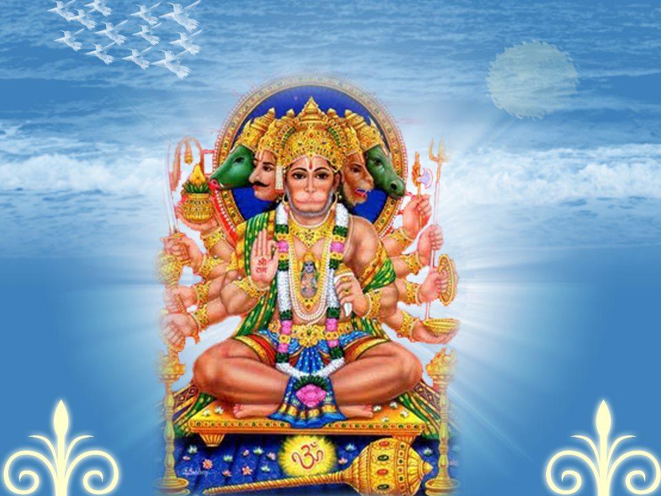 All god wallpapers jai sri panchmukhi hanuman wallpapers images pictures photos snaps pics - Panchmukhi hanuman image ...