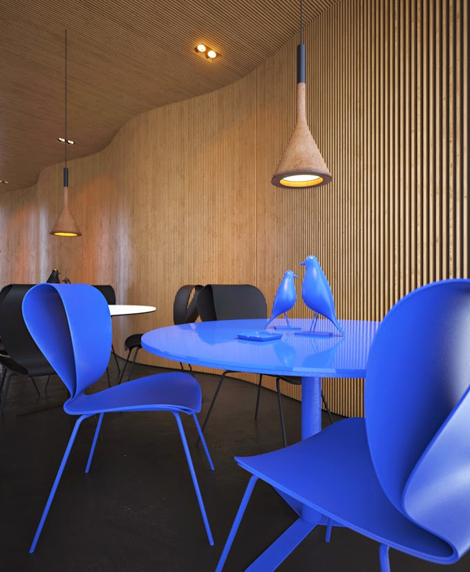 Azure Office Interior Design Ideas