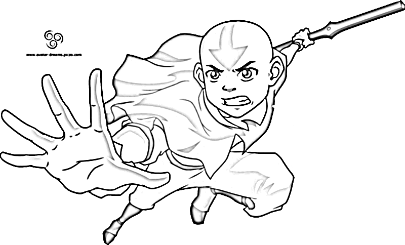 Avatar Aang Coloring Pages Pictures to Pin on Pinterest  PinsDaddy