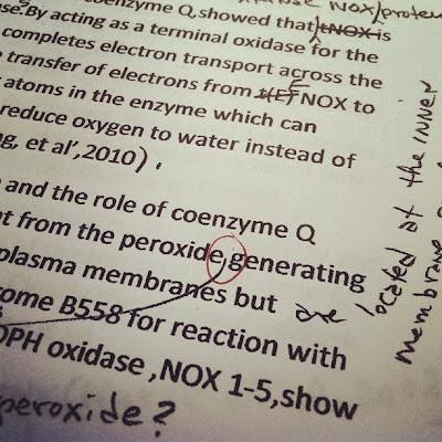 editing and revising a scientific manuscript