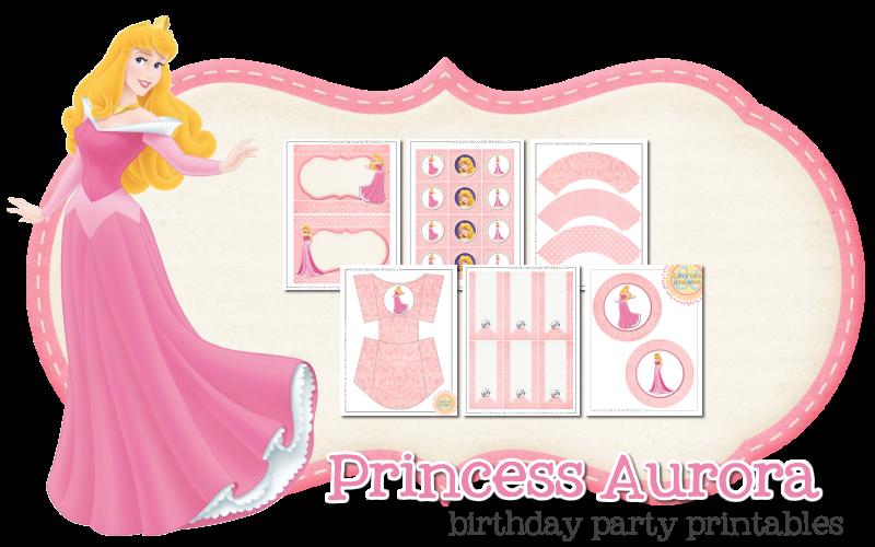 Imprimible gratis de Aurora- La Bella durmiente - Fiesta de princesas