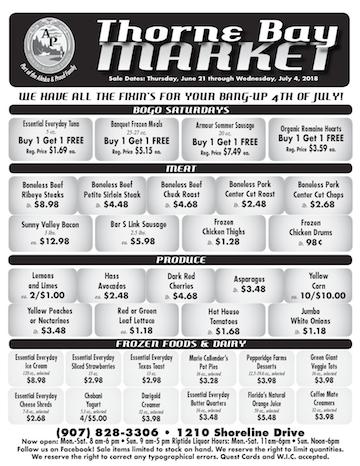 Thorne Bay Market Sale