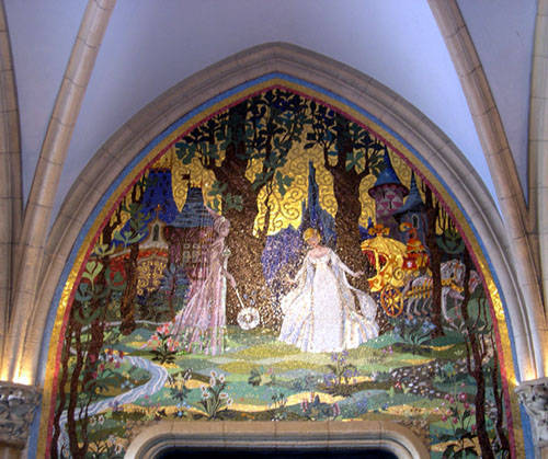 Domythic bliss suites fit for a disney princess for Cinderella castle mural