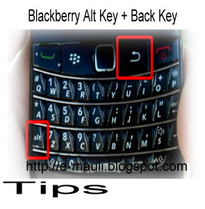 Multitask shortcut Menu For BlackBerry Alt + Back Key