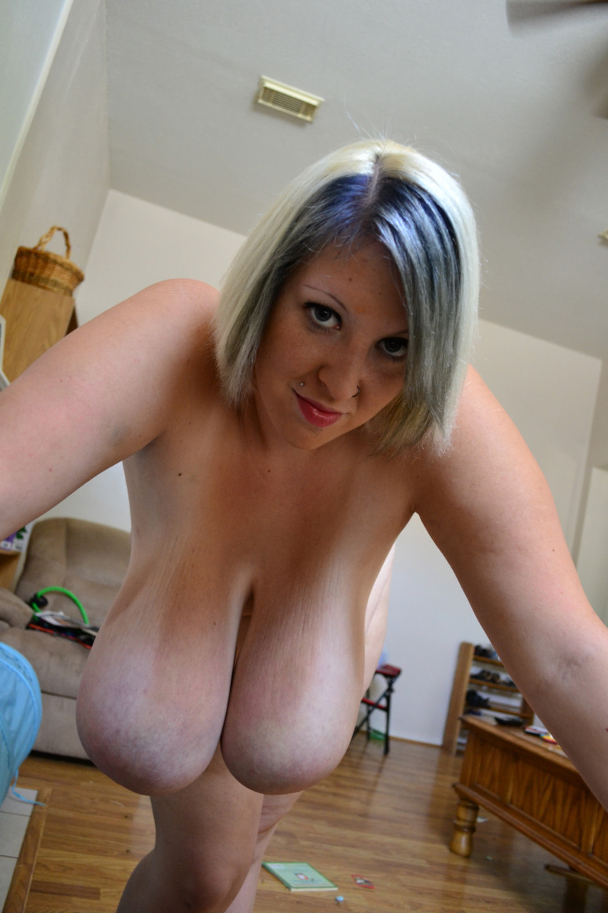 sexy slut with blue fingernails