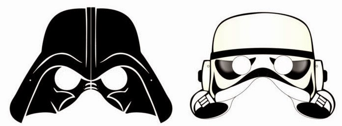 Witty image for printable star wars masks