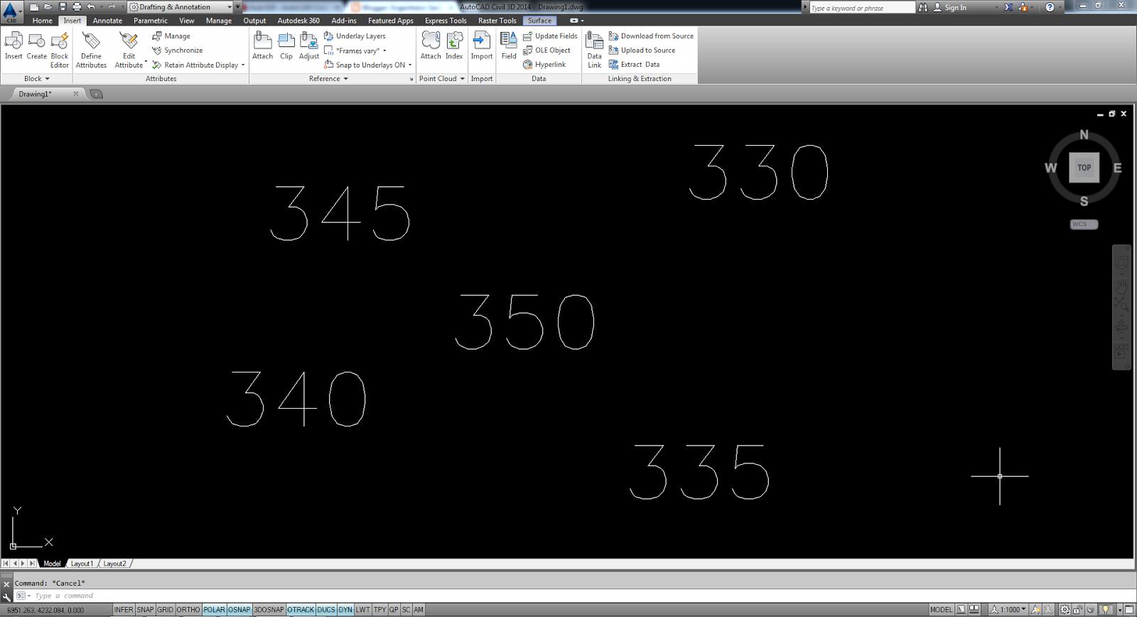 Imagens de #476C84  valores entre propriedad es (elevação) através de blocos (Civil 3D 1600x868 px 3456 Bloco Banheiro Autocad 3d