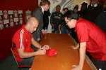 Pepe Reina&#39;s signed my Red Cap at Melwood, Liverpool Dec 8, 2011