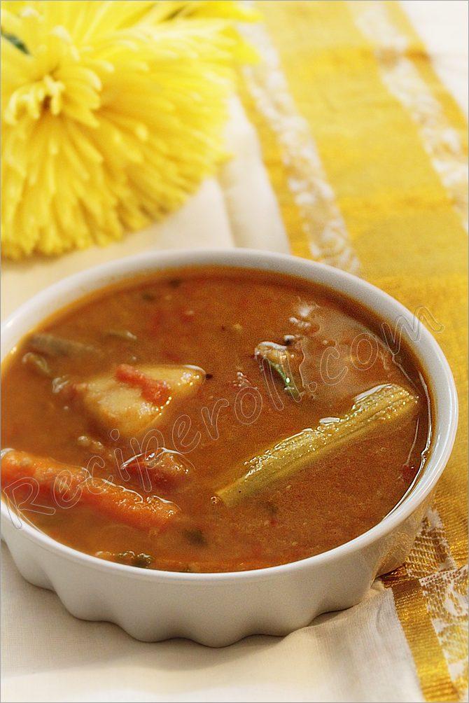 Onam RecipesSambar /Varutharacha Sambar/ Kannur Sambar