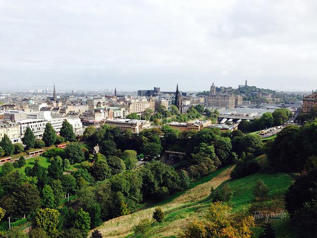 Vista desde el Castillo de Edimburgo