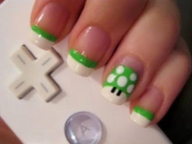 Geek nail art designs for short nails