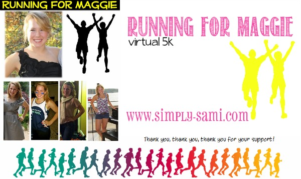 virtual 5K, run for maggie, support foundations